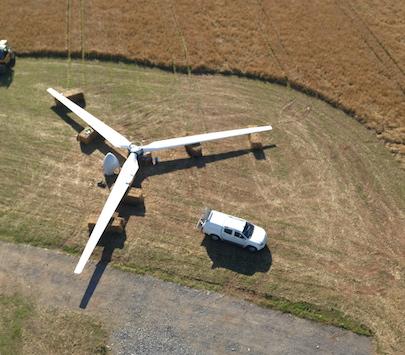 Wind Turbine Installation - Spectrum Energy Systems Ltd - Aerial