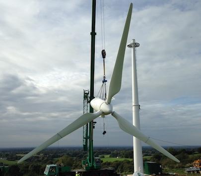 Wind Turbine Installation - Spectrum Energy Systems Ltd - Crane