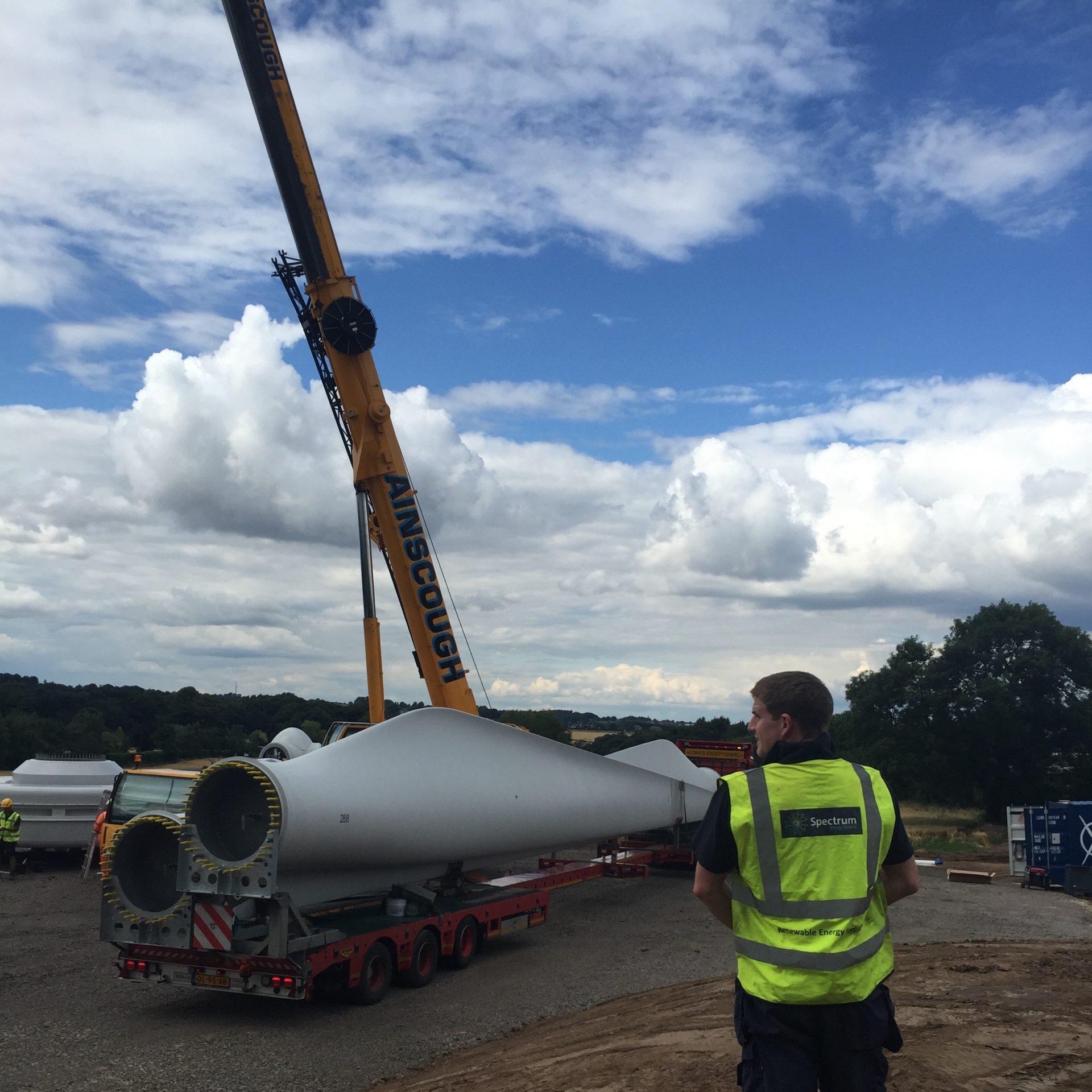 Spectrum Energy Systems - Wind turbine installation