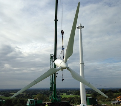 Wind Turbine Installation - Spectrum Energy Systems Ltd - Crane
