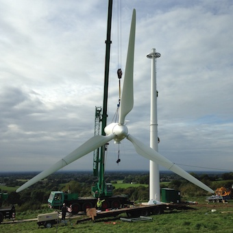 Spectrum Energy Systems - Wind turbine installation - blades